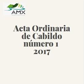 Acta Ordinaria de Cabildo 1