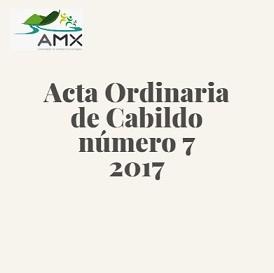 Acta Ordinaria 7