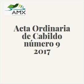 Acta Ordinaria 9 2017