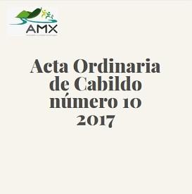 Acta Ordinaria 10 2017