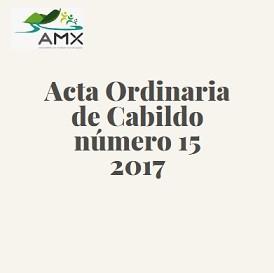 Acta Ordinaria 15 2017