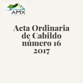 Acta Ordinaria 16 2017